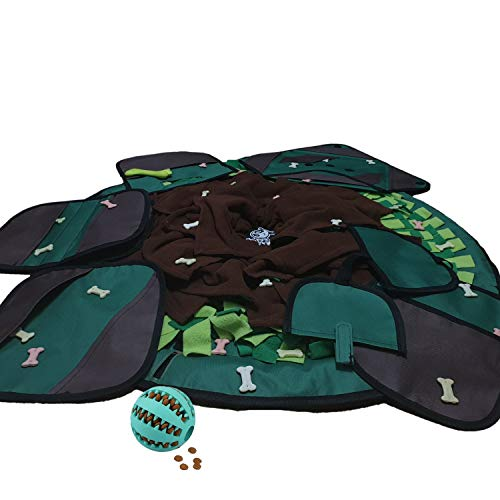 Dog Food Mat 2019 – Interactive Feeding Snuffle Mat for Pets – Puzzle Toy Slow Feeder Mat – Brain & Smell Stimulating – Practical & Safe – Relieves Stress & Anxiety with – for Small&Midium Sized Dogs