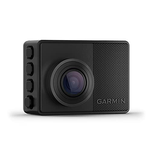 """Garmin Dash Cam 67W – kompakte Dashcam mit automatischer Unfallerkennung, 2"""" (5,1 cm) Farbdisplay, weitem 180° Bildwinkel, scharfen HD-Aufnahmen in 1440p und vernetzten Services für mehr Sicherheit"""