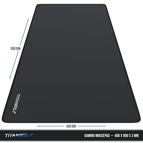 CSL – XXL Speed Gaming Mauspad Titanwolf – 900 x 400mm – XXL Mousepad – Tischunterlage Large Size – Perfekte Präzision und Geschwindigkeit - 3
