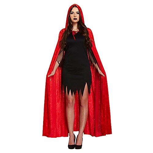 Capa Roja Para Disfraz De Demonio (Rojo)