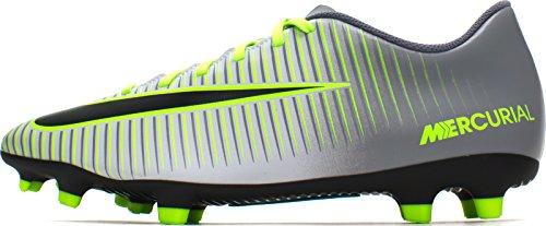 Nike Mercurial Vortex III FG, Scarpe da Calcio Uomo, Argento/Platino Puro/Nero/Verde (Ghost Green), 40 EU