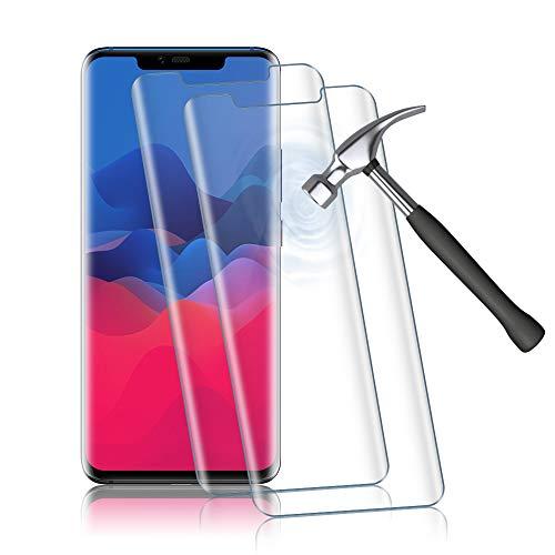 2 Stück Panzerglas Schutzfolie für Huawei Mate 20 Pro, HD Panzerglasfolie für Huawei Mate 20 Pro, Anti-Scratch, Anti-Fingerabdruck, Fallfreundlich Displayschutzfolie (Transparent)