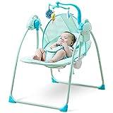 WEHOLY Elektrische Babyschaukel Prahler Stuhl Rocker Seat Multifunktionaler Baby-Komfortstuhl mit Musikgeschenk für Neugeborenes Baby (Pink)