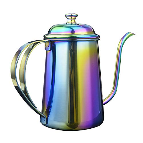 YXXHM- 650 ML, Long, Bouche, Fine Bouche Pot de Lavage à la Main, épais en Acier Inoxydable 304, Drip Coffee Pot, Préparation du Filtre Théière, Bouilloire