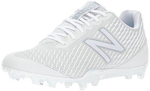 New Balance Men's Burn X Low-Cut Lacrosse Shoe, White, 14 D US
