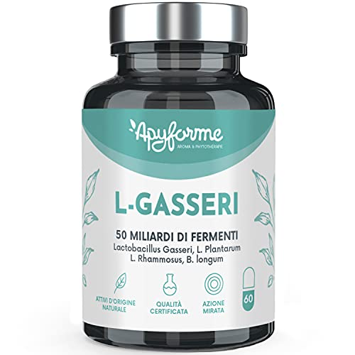 Fermenti Lattici - Probiotici Lactobacillus Gasseri - 50 miliardi di CFU 2 g/giorno - Capsule Gastroresistenti - 100% FRANCESE - 30 Giorni 60 Capsule - Prodotto in Francia da Apyforme