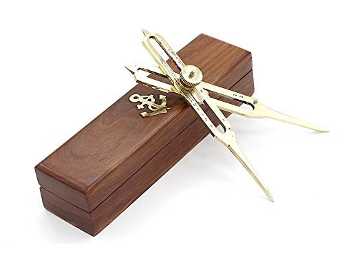 6 Full Brass Proportional Divider 6 inch with Anchor Inlaid Box by Roorkee Instruments India