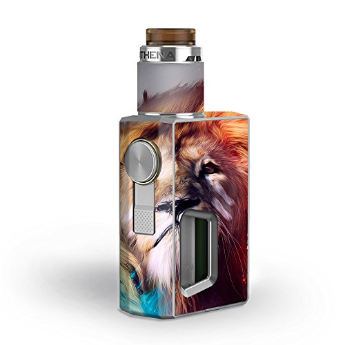 Skin Decal Vinyl Wrap for GeekVape Athena Squonk Kit Vape Kit skins stickers cover/ Lion face
