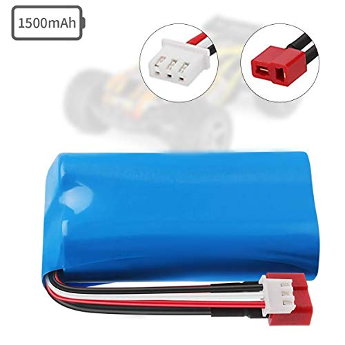 Crazepony-UK 7.4V Battery 1500mAh 15C Akku for WLtoys 4WD Rc Cars 12403 12401 12402 12404 12428 Spare Part Replacement