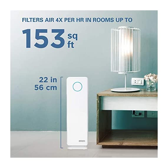 Germ guardian true hepa filter air purifier, uv light sanitizer, eliminates germs, filters allergies, pets, pollen… 8 5-in-1 air purifier for home - electrostatic hepa media air filter reduces up to 99. 97% of harmful germs, dust, pollen, pet dander, mold spores, and other allergens as small as. 3 microns from the air pet pure filter - an antimicrobial agent is added to the filter to inhibit the growth of mold, mildew and odor-causing bacteria on the filter's surface kills germs - uv-c light helps kill airborne viruses such as influenza, staph, rhinovirus, and works with titanium dioxide to reduce volatile organic compounds