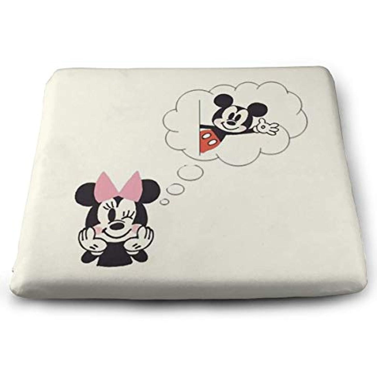 KXJBB Chair Pads- Non Slip Square Chair Cushion Comfort Memory Foam Mickey Minnie Thicken Seat Cushion Pillow
