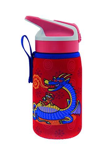 Laken Tritan Junior - Botella de tritán unisex con cierre de Summitverschluß (0,45 L, funda de neopreno), color rojo