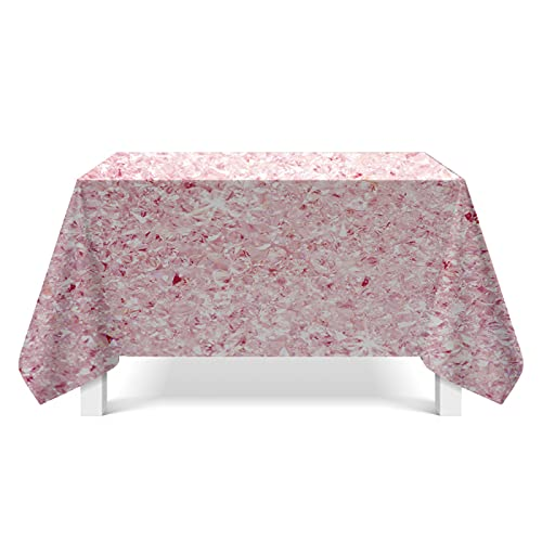 DSman Plastic Tablecloths Table Covers for Indoor or Outdoor Parties Birthdays Weddings Crystal texture illustration art