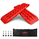 X-BULL New Recovery Traction Tracks Sand Mud Snow Track Tire Ladder 4WD (Red,3gen)