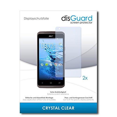 disGuard® Bildschirmschutzfolie [Crystal Clear] kompatibel mit Acer Liquid Z410 Plus [2 Stück] Kristallklar, Transparent, Unsichtbar, Extrem Kratzfest, Anti-Fingerabdruck - Panzerglas Folie, Schutzfolie
