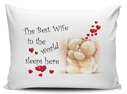 The Best Wife in The World Sleeps Here Pillow Cases - Cute Bears