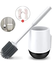「2020年最新型」GESMA トイレブラシ 柔らかいTPR材 地面式·壁掛け式 掃除用品 衛生 防菌 360°トイレ掃除 トイレ掃除 掃除ブラシ(地面式·壁掛け式 )