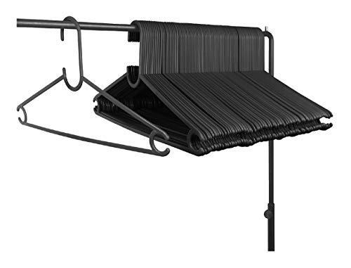 HOMEsolution - Perchas (Negro, 80pz.) 4137 Butterfly 39cm de plástico, Ideal para Camisetas, Blusas, lencería