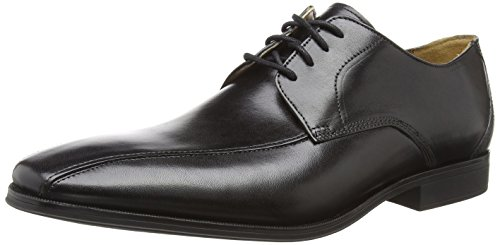 Clarks Herren Gilman Mode Derbys, Schwarz (Black Leather), 47 EU