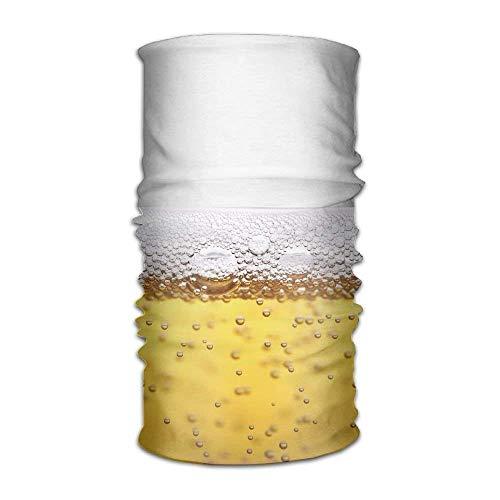 SJuczi Unisex Stylish Beer Quick Dry Microfiber Headwear Outdoor Magic Bandana Neck Gaiter Head Wrap Headband Scarf Face Mask Ultra Soft Elastic Handscarf 9.8W x19.7L in