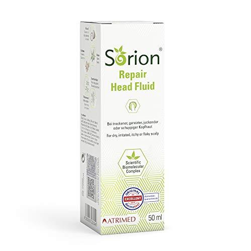 Sorion Head Fluid 50 ml – Auch zur Kopfhautpflege bei Schuppenflechte und Neurodermitis mit Kokosöl, Neem, Rubia Cordifolia, Kurkuma und Wrightia tinctoria