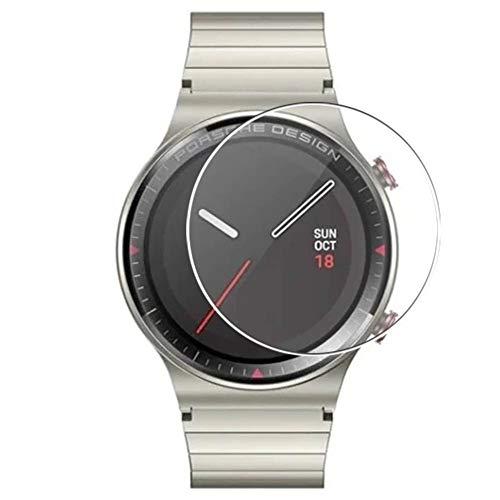 Vaxson 3 Unidades Protector de Pantalla, compatible con Huawei Watch GT 2 Porsche Design 46mm [No Vidrio Templado] TPU Película Protectora Reloj Inteligente Film Guard Nueva Versión