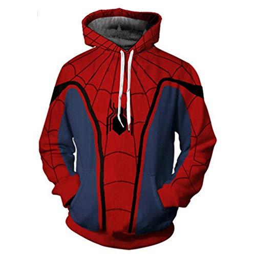 MODRYER Children Spiderman Pullover Homecoming Hoodie Miles Morales Costume Halloween Christmas Cosplay Sweatshirt For Unisex Boy Girl Kid, Homecoming -L