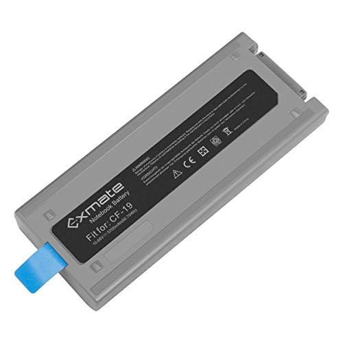 Exmate Kompatible für Laptop Akku Panasonic Toughbook CF19 CF-19 MK1 / 2/3/4/5/6/7/8 Notebook CF-VZSU48 CF-VZSU48R CF-VZSU58U CF-VZSU28 CF-VZSU50 10.65V 5700mAh