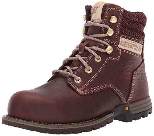 "Caterpillar Women's Paisley 6"" Steel Toe Industrial Boot Tawny 8 M US"
