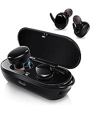 AIKAQI Bluetooth イヤホン 完全ワイヤレス イヤホン 左右分離型 片耳 両耳とも対応 スポーツ 高音質 ワンボタン設計 軽量 マイク内蔵 ハンズフリー通話 IPX5防汗防滴 充電機能搭載収納ケース ステレオヘッドセット 技適認証済 B04