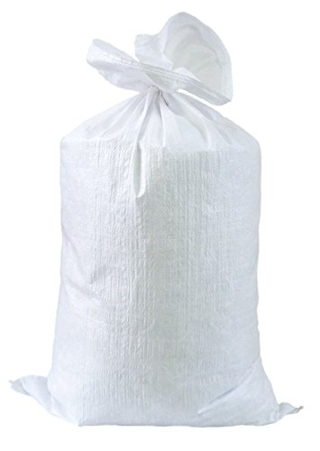 PP Gewebesäcke 10er Pack in 60 cm x 105 cm weiss Getreidesack Transportsack Lagersack unbedruckt für 50 kg