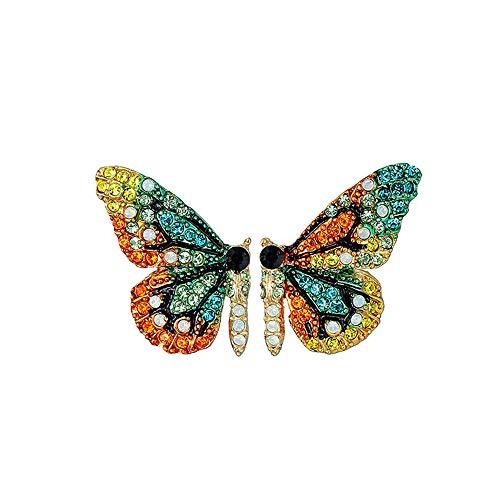 Pendientes de Diseño Mariposas con esmalte de colores y brillantes para mujeres alegres para...
