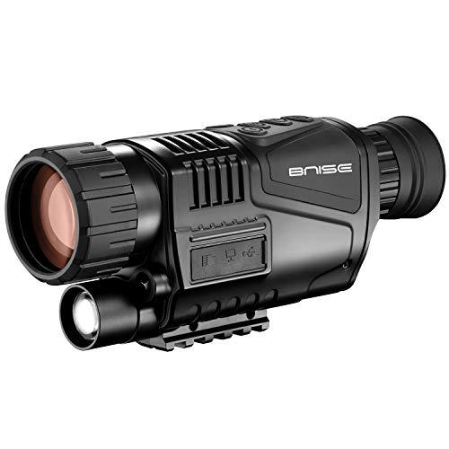 Monocular infrarrojo de visión nocturna en HD de 8x40 con cámara digital; reproducción de video; salida USB; para caza y vida silvestre. Distancia de visión de 150 m en la oscuridad; tarjeta TF de 8G.