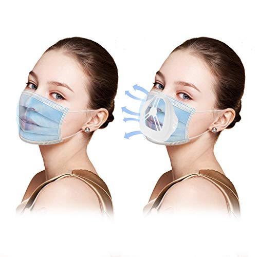GPURE 10 Pcs Face Bandanas Bracket 3D Inner Support Frame Protect Lipstick Makeup Saver Face Cloth Internal Insert Pad Increases The Breathing Space To Help Breathing For Adult Kids