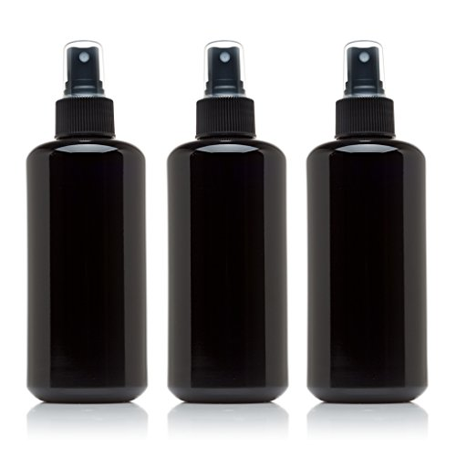 Infinity Jars Black Ultraviolet Glass Spray Bottle 3-Pack