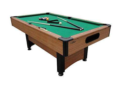 Mizerak Dynasty Space Saver 6.5' Billiard Table with Leg Levelers, Automatic Ball Return, and Classic Green Nylon Cloth