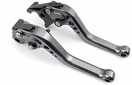 YZF R6 2017 2018 Tencasi Argent CNC Court Reglable Leviers de Frein dembrayage pour Yamaha R1 R1M R1S 2015-2018