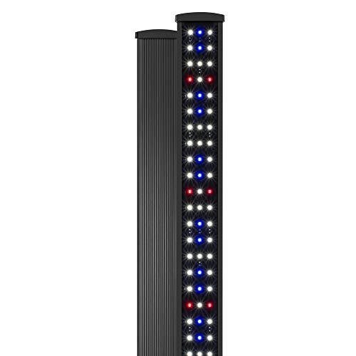 NICREW SlimLED Rampe LED Aquarium avec la Fonction Minuterie, Éclairage Réglables à Spectre Complet pour Plantes d'Aquarium d'eau Douce, 120-140 cm, 32W, 2000 LM