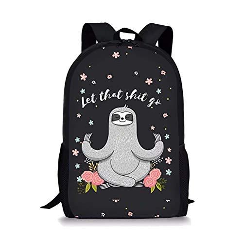 POLERO Rucksack Kinder Grundschule Rucksack Mädchen Junge Schultasche Rucksäcke Daypack Große Backpack mit Faultier Print Muster