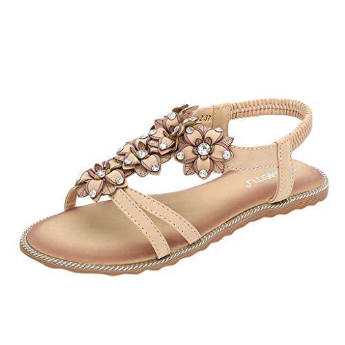 clasificación y comparación Zapatos de playa bohemios para mujer, sandalias de playa de pedrería … para casa