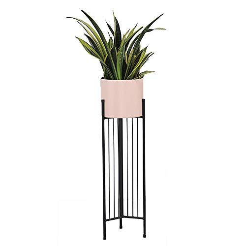 Usine en métal Stand de fleurs Rack Nordic Moderne Simple Maison Salon Balcon Atterrissage Extérieur Présentoir Bonsaï Étagère-Pink-small