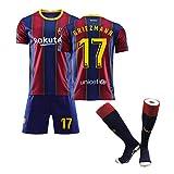 Camiseta de fútbol para niños-17# Griezmann Uniforme de Entrenamiento Unisex Camiseta de Atleta Malla de Secado rápido Sudadera de Manga Corta para fanáticos-XXXS