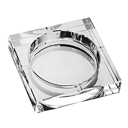 Amlong Crystal Large Square Crystal Ashtray with Gift Box, 6 x 6 inch (150mm X150mm), Clear