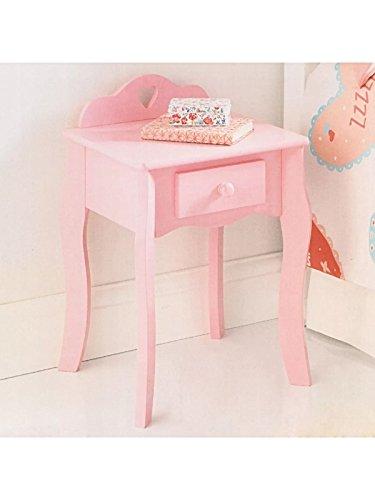 Amelia shabby chic rosa cuore per bambini comodino cassetto facile da montare
