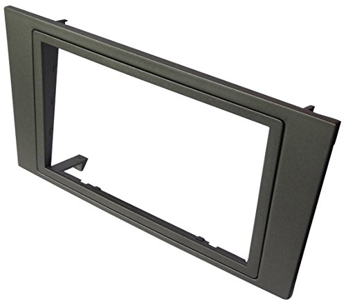 Aerzetix - autoradio-adapter radio diafragma autoradio frame adapter 2DIN kleur: antraciet