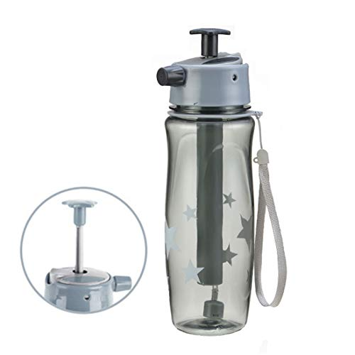WANZIJING 2 en 1 Bouteille d'eau Brouillard Lock Spray Double Couches Femmes Voyage Mug Hommes Sport Bouteille Tasse de Voyage Tasse extérieure 650ml