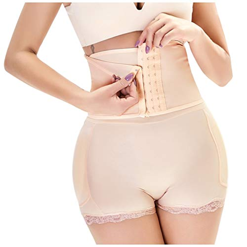 Luckycat Pantalones Moldeadores Fajas Levanta Gluteos Body Reductores Panty Efecto Vientre Plano Calzones Sin Costuras Hip Up Enhancer Bragas Push Up con Relleno Extremo para Mujer