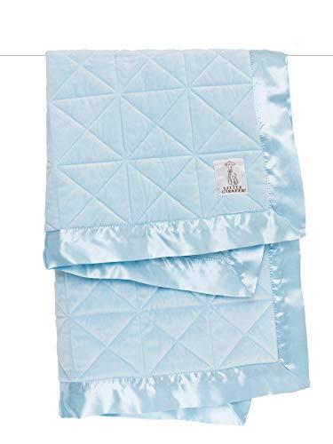 Little Giraffe Bliss Cross Quilted Blanket, Blue, 29 Inch x 35 Inch
