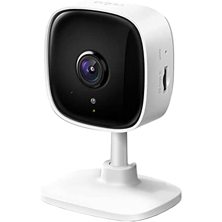 TP-Link Tapo C100 1080p Full HD Indoor WiFi Spy Security Camera  Night Vision   Two Way Audio  Intruder Alert   Works with Alexa and Google, White