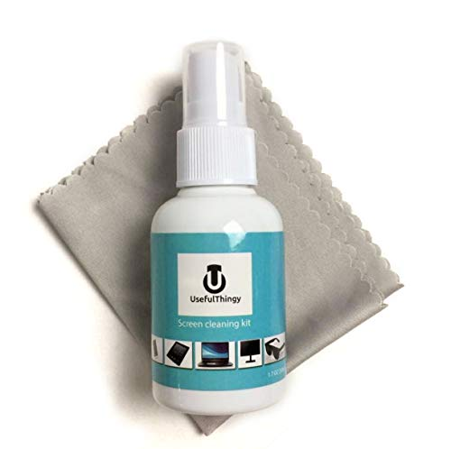 Screen Cleaner Kit. Best for Laptop, LED LCD TV, Smartphone, iPad, Computer, Kindle, Touch Screens Eyeglass. 1 Cleaning Spray + 1 Microfiber Polishing Cloth. Streak Free